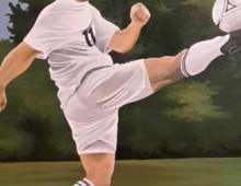 Portrait:  Fußballer, Auftrag von Irmgard Danninger
