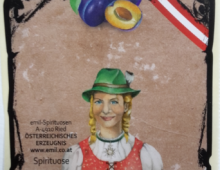 Etiketten – Entwürfe für Emil Spirituosen/Ried